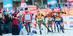 19.12.2015, Nordische Arena, Ramsau, AUT, FIS Weltcup Nordische Kombination, Langlauf, im Bild v.l.: Fabian Riessle (GER), Manuel Faisst (GER) // Fabian Riessle of Germany, Manuel Faisst of Germany during Cross Country Competition of FIS Nordic Combined World Cup, at the Nordic Arena in Ramsau, Austria on 2015/12/19. EXPA Pictures © 2015, PhotoCredit: EXPA/ JFK