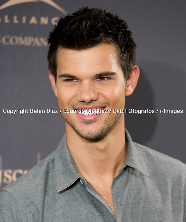 Taylor Lautner attends the Twilight II photocall,  Villa Magna Hotel, Madrid, Spain, November 15, 2012.  Photo by Belen Diaz / Eduardo Dieguez / DyD FOtografos / i-Images...SPAIN OUT