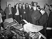 """Carrageen Moss - Cleaning and Drying machine Built at Institute of Industrial Research<br /> 18/02/1954<br /> <br /> Chondrus crispus, known under the common name Irish moss, or carrageen moss (Irish carraigín, """"little rock""""), is a species of red algae which grows abundantly along the rocky parts of the Atlantic coast of Europe and North America."""
