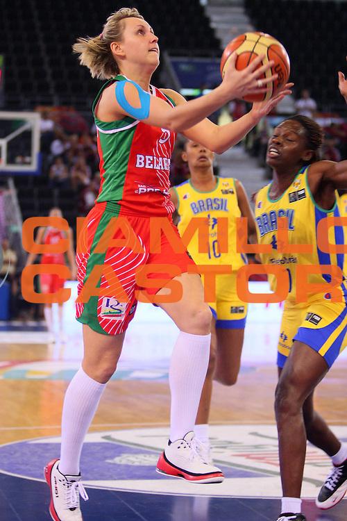 DESCRIZIONE : Madrid 2008 Fiba Olympic Qualifying Tournament For Women Quarter Finals Brazil Belarus <br /> GIOCATORE : Olga Masilionene <br /> SQUADRA : Belarus Bielorussia <br /> EVENTO : 2008 Fiba Olympic Qualifying Tournament For Women <br /> GARA : Brazil Belarus Brasile Bielorussia <br /> DATA : 13/06/2008 <br /> CATEGORIA : Tiro <br /> SPORT : Pallacanestro <br /> AUTORE : Agenzia Ciamillo-Castoria/S.Silvestri <br /> Galleria : 2008 Fiba Olympic Qualifying Tournament For Women<br /> Fotonotizia : Madrid 2008 Fiba Olympic Qualifying Tournament For Women Quater Finals Brazil Belarus <br /> Predefinita :