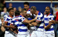 Queens Park Rangers celebrate Conor Washington's goal against Swindon Town - Mandatory by-line: Robbie Stephenson/JMP - 10/08/2016 - FOOTBALL - Loftus Road - London, England - Queens Park Rangers v Swindon Town - EFL League Cup