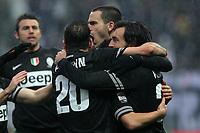 "Esultanza Juventus.celebration.Parma 13/01/2013 Stadio ""Tardini"".Football Calcio Serie A 2012/13.Parma v Juventus.Foto Insidefoto Paolo Nucci."