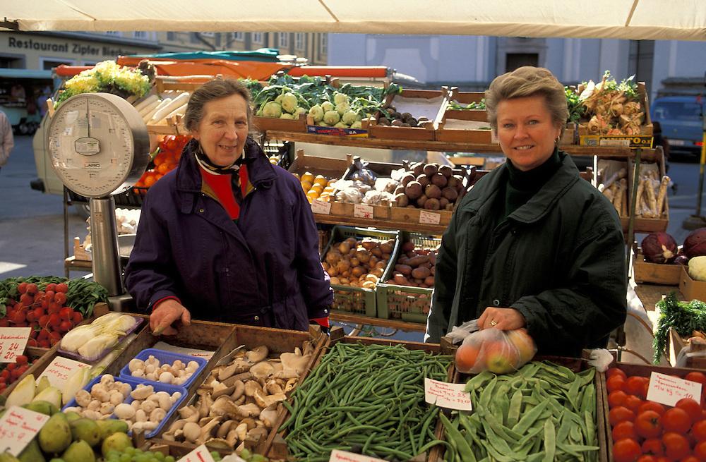 Vegetable Market, Salzburg, Salzburgerland, Austria