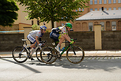 The lead two (Gracie Elvin and Linda Villumsen have a small lead with 20km to go at Thüringen Rundfarht 2016 - Stage 5 a 99km road race starting and finishing in Greiz, Germany on 19th July 2016.