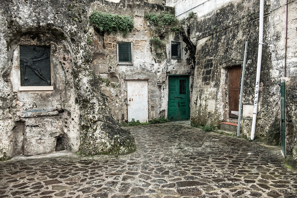 "A courtyard in the area of ""the sassi"". Already UNESCO world heritage site, recently named European Capital of Culture for 2019, Matera is a city in the Region of Basilicata in the south of Italy."