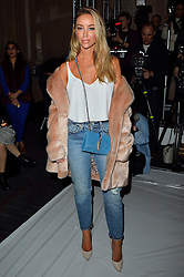 © Licensed to London News Pictures. 19/02/2016. LAUREN POPE attends the PAUL COSTELLO Autumn/Winter 2016 presentation. Models, buyers, celebrities and the stylish descend upon London Fashion Week for the Autumn/Winters 2016 clothes collection shows. London, UK. Photo credit: Ray Tang/LNP
