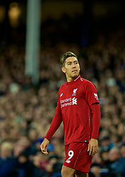 LIVERPOOL, ENGLAND - Sunday, March 3, 2019: Liverpool's Roberto Firmino during the FA Premier League match between Everton FC and Liverpool FC, the 233rd Merseyside Derby, at Goodison Park. (Pic by Paul Greenwood/Propaganda)