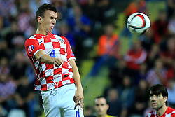 13.10.2014, Stadion Gradski vrt, Osijek, CRO, UEFA Euro Qualifikation, Kroatien vs Aserbaidschan, Gruppe H, im Bild Ivan Perisic. // during the UEFA EURO 2016 Qualifier group H match between Croatia and Azerbaijan at the Stadion Gradski vrt in Osijek, Croatia on 2014/10/13. EXPA Pictures © 2014, PhotoCredit: EXPA/ Pixsell/ Davor Javorovic<br /> <br /> *****ATTENTION - for AUT, SLO, SUI, SWE, ITA, FRA only*****
