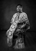 Kiyanie Haungooah, Kiowa/Comanche, buckskin dancer from Flagstaff, Ariz.