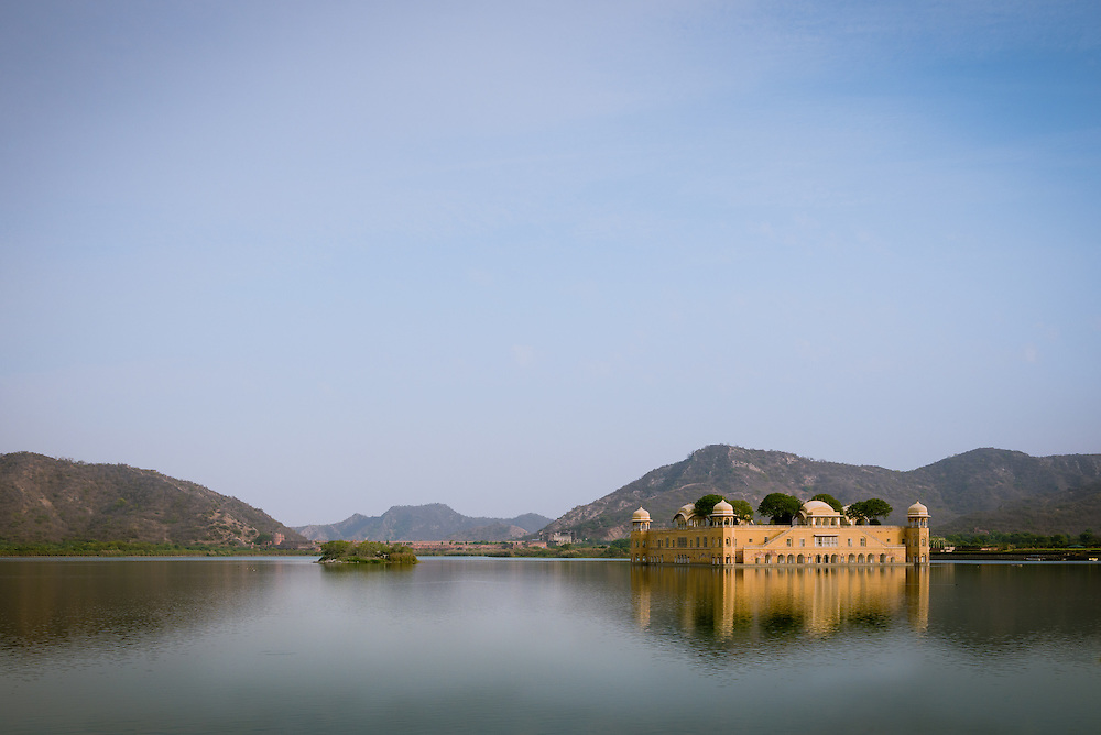 Jal Mahal floating on  Man Sagar Lake, Jaipir