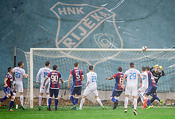 Lovre Kalinic of HNK Hajduk (R) during football match between HNK Rijeka and HNK Hajduk Split in Round #15 of 1st HNL League 2016/17, on November 5, 2016 in Rujevica stadium, Rijeka, Croatia. Photo by Vid Ponikvar / Sportida