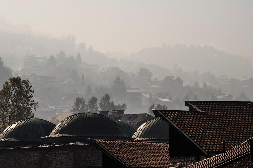 Fog over the hills above the Baščaršija