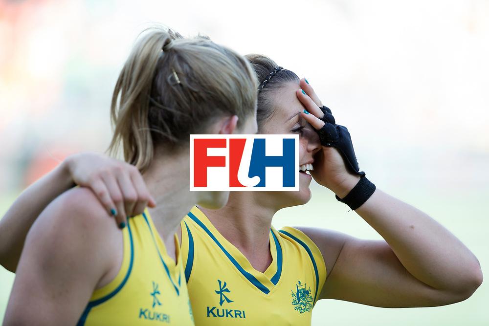 THE HAGUE - Rabobank Hockey World Cup 2014 - 12-06-2014 - WOMEN - SEMI-FINAL USA - AUSTRALIA - AUSTRALIA WINS - Ongeloof bij Kellie White.<br /> Copyright: Willem Vernes
