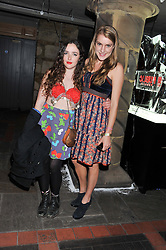 Left to right, ISABELLA DOHERTY and The HON.ELIZA ROCKNROLL (ELIZA PEARSON) at a party at the nightclub Public, King's Road, London to celebrate the launch of Public Verbier held on 17th November 2011.