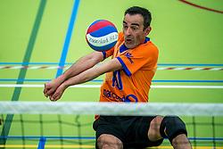 28-04-2018 NED: NK Zitvolleybal, Koog aan de Zaan<br /> BVC Holyoke wint de finale van het NK zitvolleybal met 3-1 van V.a.s. F.D.S uit Sneek. / ? #10 of Holyoke