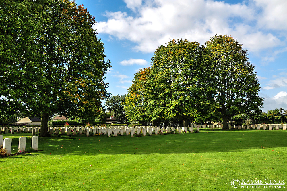 Bayeux World War II Cemetery near the Musee Memorial de la Bataille de Normandie in the town of Bayeux in Normandy, France.