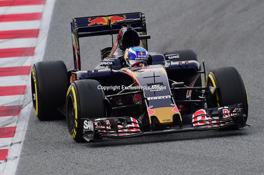March 1, 2016 - Barcelona, Spain - <br /> <br /> The Dutch driver, Kevin Magnussen, from Toro Rosso Formula One team, driving his car during the first day of Formula One tests days in Barcelona, 1st of March , 2016. <br /> ©Exclusivepix Media