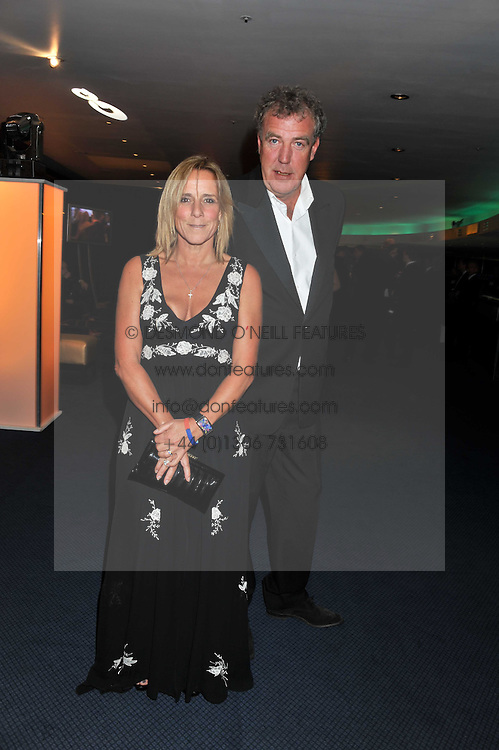 JEREMY CLARKSON and his wife FRANCES at the GQ Men of the Year 2011 Awards dinner held at The Royal Opera House, Covent Garden, London on 6th September 2011.