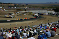 Ryan Briscoe and Helio Castroneves at Infineon Raceway, Argent Mortgage Indy Grand Prix, August 28, 2005