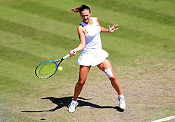 Slovenia's Dalila Jakupovic in action during her quarter final against Slovakia's Magdalena Rybarikova during day five of the Nature Valley Classic at Edgbaston Priory, Birmingham.