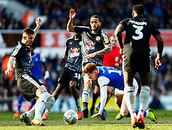 Lewis Baker of Reading fouls Jon Nolan of Ipswich Town - Mandatory by-line: Phil Chaplin/JMP - FOOTBALL - Portman Road - Ipswich, England - Ipswich Town v Reading - Sky Bet Championship