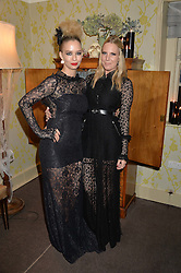 Left to right, MARISSA HERMER andALICE NAYLOR-LEYLAND at the Bumpkin Halloween Dinner hosted by Marissa Hermer held at Bumpkin, 119 Sydney Street, London on 23rd October 2014.