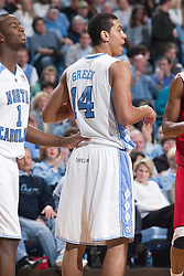 28 December 2006: North Carolina Tarheel forward (14) Danny Green during a 87-48 Rutgers Scarlet Knights loss to the North Carolina Tarheels, in the Dean Smith Center in Chapel Hill, NC.<br />