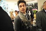 YURI BASSI, Jonathan Adler Store opening. Sloane St. London. 16 November 2011. <br /> <br />  , -DO NOT ARCHIVE-© Copyright Photograph by Dafydd Jones. 248 Clapham Rd. London SW9 0PZ. Tel 0207 820 0771. www.dafjones.com.