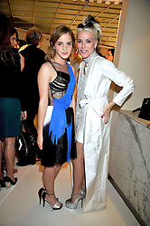 Left to right, EMMA WATSON and DAPHNE GUINNESS at a dinner in honour of design label Rodarte held at the Fifth Floor Restaurant, Harvey Nichols, Knightsbridge, London on 3rd June 2009.
