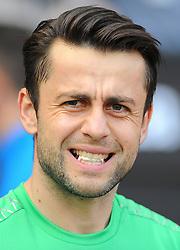 Lukasz Fabianski of Swansea City- Mandatory by-line: Nizaam Jones/JMP - 14/04/2018 - FOOTBALL - Liberty Stadium - Swansea, Wales - Swansea City v Everton - Premier League