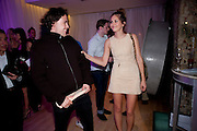 ADAM WAYMOUTH; DASHA ZHUKOVA, An evening at Sanderson to celebrate 10 years of Sanderson, in aid of Clic Sargent. Sanderson Hotel. 50 Berners St. London. W1. 27 April 2010 *** Local Caption *** -DO NOT ARCHIVE-© Copyright Photograph by Dafydd Jones. 248 Clapham Rd. London SW9 0PZ. Tel 0207 820 0771. www.dafjones.com.<br /> ADAM WAYMOUTH; DASHA ZHUKOVA, An evening at Sanderson to celebrate 10 years of Sanderson, in aid of Clic Sargent. Sanderson Hotel. 50 Berners St. London. W1. 27 April 2010