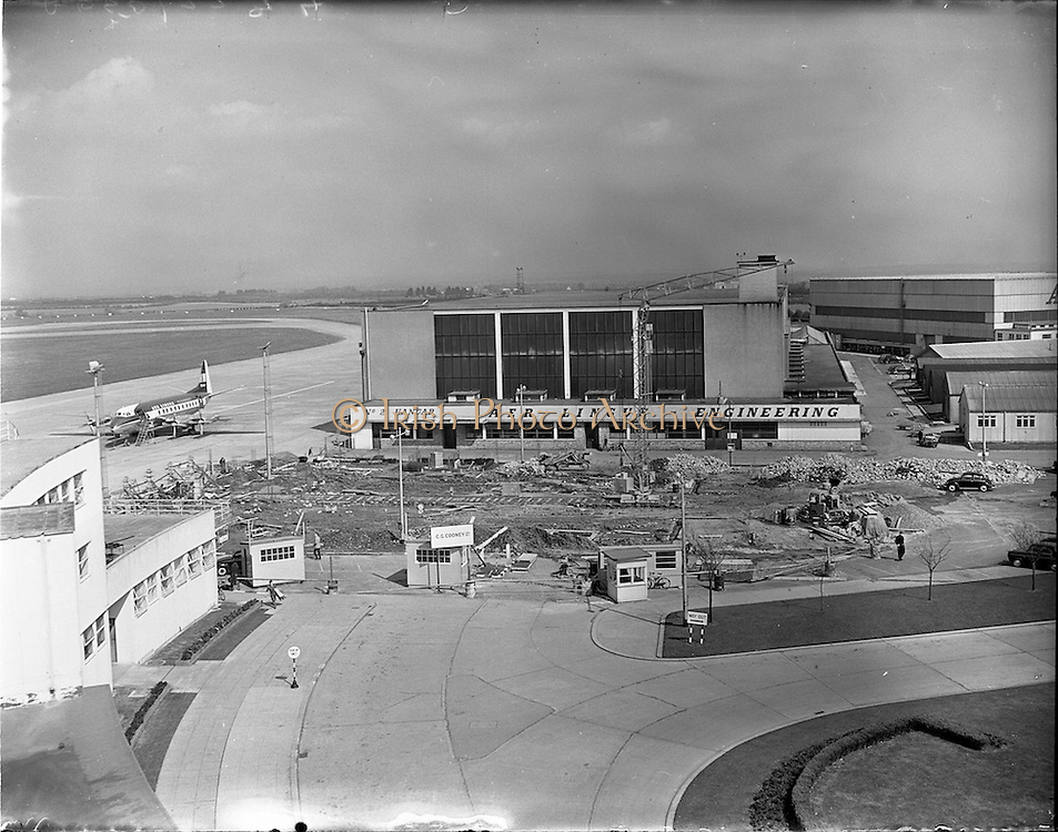 11/04/1958.04/11/1958.11 April 1958.Airport reconstruction at Dublin Airport. Special for Aer Lingus.