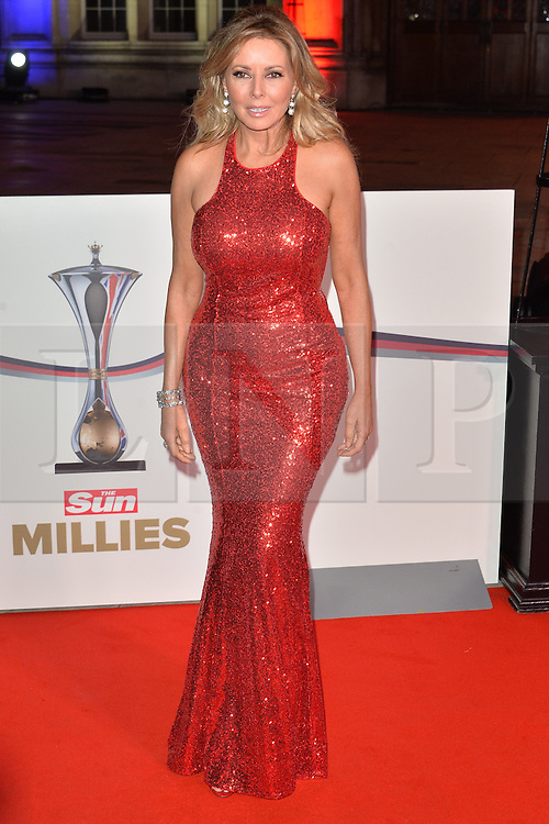 © Licensed to London News Pictures. 14/12/2016. CAROL VORDERMAN attends The Sun newspaper Millies Military Awards 2016 at Guildhall <br /> London, UK. Photo credit: Ray Tang/LNP