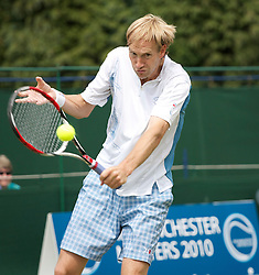MANCHESTER, ENGLAND: Seb Jackson (GBR) on Day 3 of the Manchester Masters Tennis Tournament at the Northern Tennis Club. (Pic by David Tickle/Propaganda)