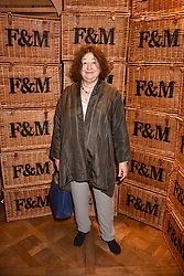Fay Maschler at the launch of the Fortnum & Mason Christmas & Other Winter Feasts Cook Book by Tom Parker Bowles held at Fortnum & Mason, 181 Piccadilly, London, England. 17 October 2018.