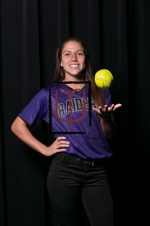 Cedar Ridge softball player, Christiana McDowell.  (LOURDES M SHOAF for Round Rock Leader.)