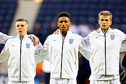 Matt Targett, Joe Gomez and Eric Dier of England U21  - Mandatory byline: Matt McNulty/JMP - 07966386802 - 03/09/2015 - FOOTBALL - Deepdale Stadium -Preston,England - England U21 v USA U23 - U21 International