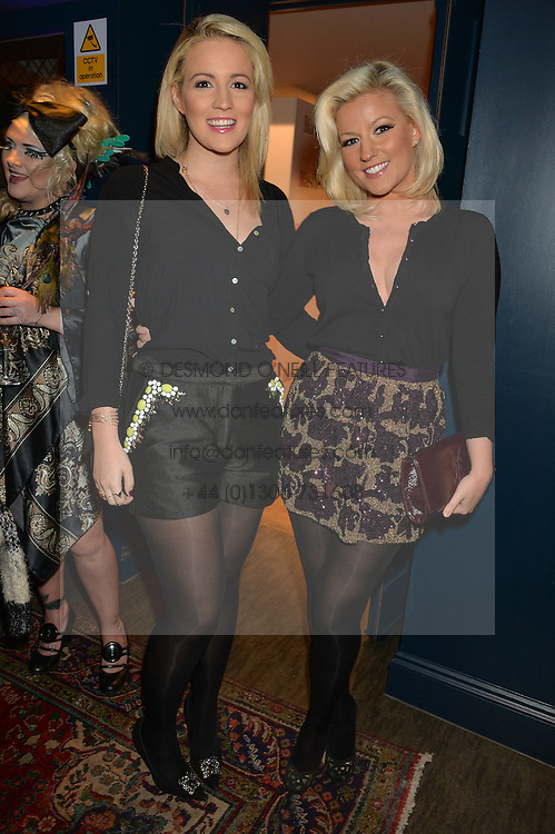 Left to right, sisters DANIELLE COYLE and NATALIE COYLE at a party to celebrate the 1st anniversary of Hello! Fashion Monthly magazine held at Charlie, 15 Berkeley Street, London on 14th October 2015.