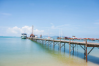 Ferry moored at Na Pra Lan Pier; Koh Samui; Thailand