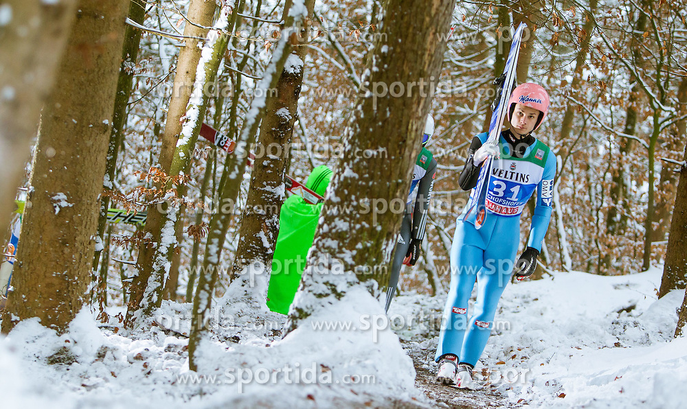 05.01.2015, Paul Ausserleitner Schanze, Bischofshofen, AUT, FIS Ski Sprung Weltcup, 63. Vierschanzentournee, Training, im Bild Manuel Fettner (AUT) // during Training of 63rd Four Hills <br /> Tournament of FIS Ski Jumping World Cup at the Paul Ausserleitner Schanze, Bischofshofen, Austria on 2015/01/05. EXPA Pictures &copy; 2015, PhotoCredit: EXPA/ JFK
