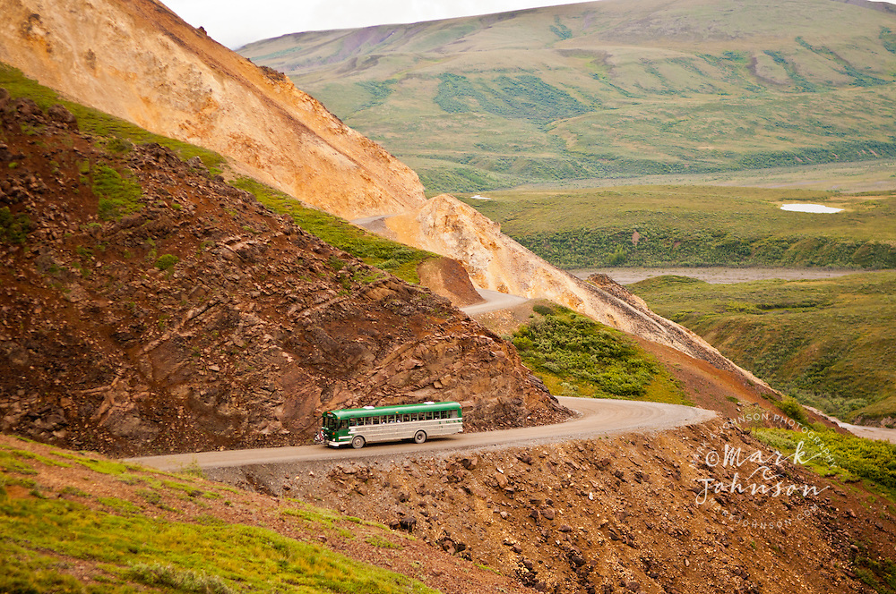Shuttle Bus, Polychrome Pass, Denali National Park, Alaska