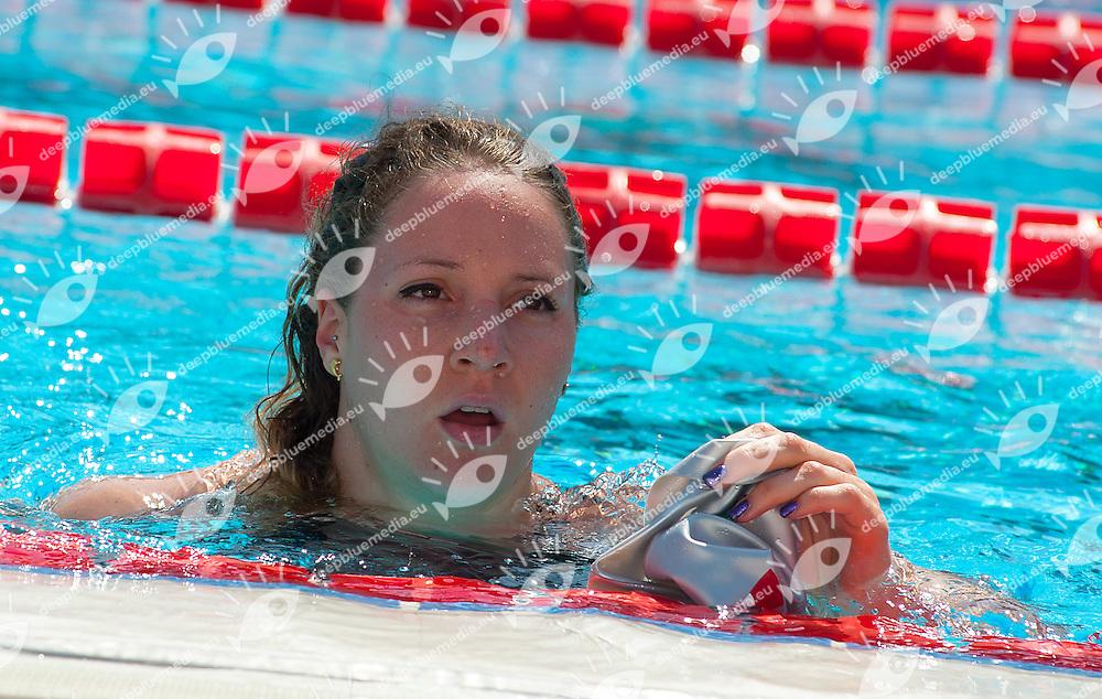 BIANCHI Ilaria, Italy -  Fiamme Azzurre - Azzurra91<br /> 100 Freestyle Women<br /> 50 Settecolli Trofeo Internazionale di nuoto 2013<br /> swimming<br /> Roma, Foro Italico  12 - 15/06/2013<br /> Day02 heat<br /> Photo Diego Montano/Deepbluemedia/Insidefoto