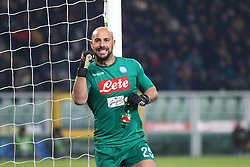 December 16, 2017 - Turin, Piedmont, Italy - Jose Manuel Reina (SSC Napoli)  celebrates after the first goal of SSC Napoli during the Serie A football match between Torino FC and SSC Napoli at Olympic Grande Torino Stadium on 16 December, 2017 in Turin, Italy. SSC Napoli win 3-1 over Torino FC. (Credit Image: © Massimiliano Ferraro/NurPhoto via ZUMA Press)