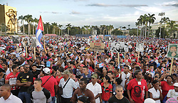 December 3, 2016 - Santiago De Cuba, CUB - Cubans wait for the arrival of Fidel Castro's ashes at the Antonio Maceo Plaza Revolucion, in Santiago de Cuba on Saturday, Dec. 3, 2016. (Credit Image: © Al Diaz/TNS via ZUMA Wire)