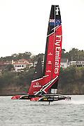 Emirates Team New Zealand testing AC45 Turbo.