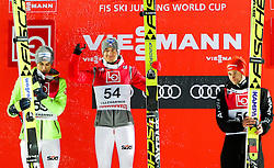 11.12.2016, Lysgards Schanze, Lillehammer, NOR, FIS Weltcup Ski Sprung, Lillehammer, im Bild Maciej Kot (POL, 2. Platz), Sieger Kamil Stoch (POL), Markus Eisenbichler (GER, 3. Platz) // 2nd placed Maciej Kot of Poland, Winner Kamil Stoch of Poland, 3rd placed Markus Eisenbichler of Germany // during Mens Skijumping of FIS Skijumping World Cup at the Lysgards Schanze in Lillehammer, Norway on 2016/12/11. EXPA Pictures © 2016, PhotoCredit: EXPA/ Tadeusz Mieczynski