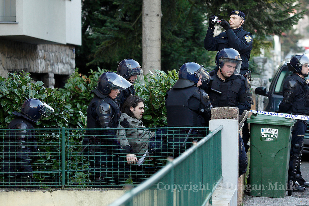 Police arrest activists Ivan Vilibor Sincic two weeks before he will become Croatia's youngest ever presidential candidate.