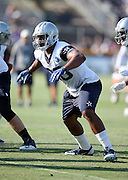 Dallas Cowboys rookie tight end Rico Gathers (80) blocks during the second day of the Dallas Cowboys 2016 NFL training camp football practice held on Sunday, July 31, 2016 in Oxnard, Calif. (©Paul Anthony Spinelli)