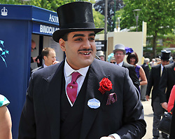 HH SHEIKH HAMAD BIN ABDULLAH AL THANI at day 1 of the 2011 Royal Ascot Racing festival at Ascot Racecourse, Ascot, Berkshire on 14th June 2011.