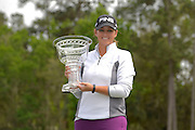 Kendall Dye after winning the IOA Golf Classic at Alaqua Country Club on March {today day}, 2014 in Longwood, Florida.<br /> <br /> ©2014 Scott A. Miller